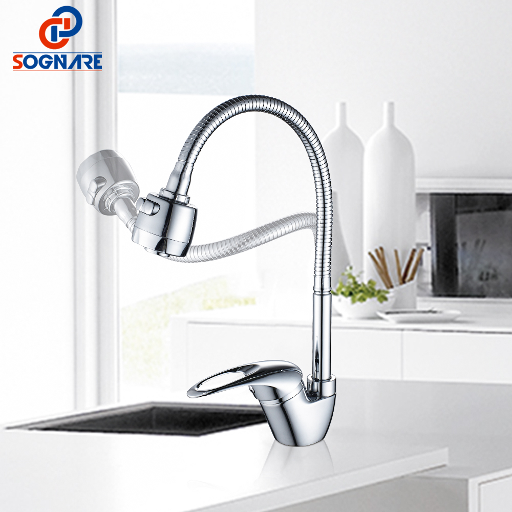 SOGNARE Modern Fashion Kitchen Faucet Mixer Crane Washing Everything For The Kitchen Sink Rotation Torneira Cozinha Mixer D2202