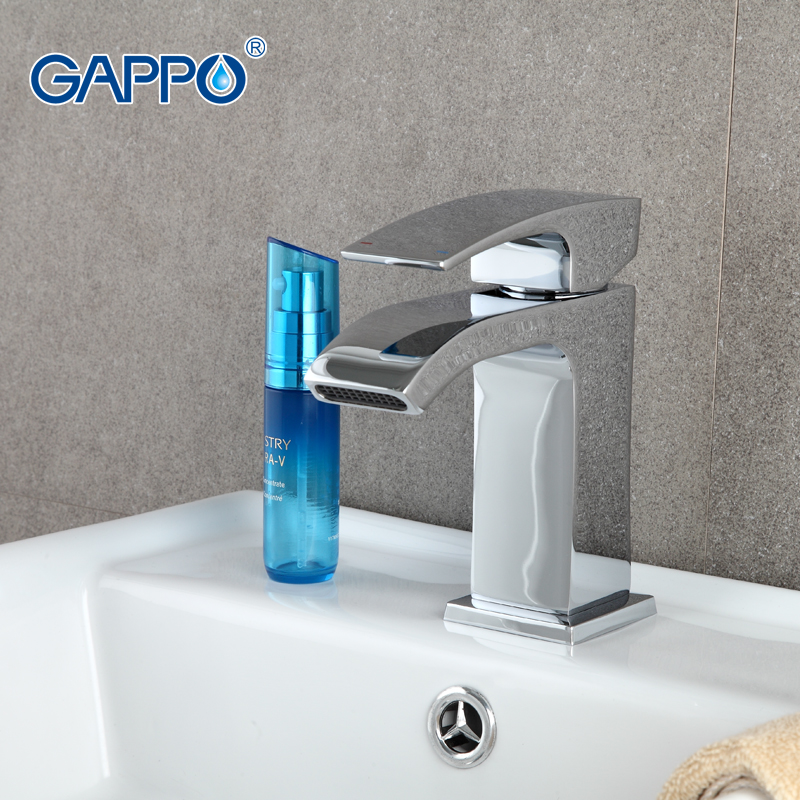 ФОТО GAPPO 1set High Quality Modern Style Basin sink Faucet mixer Single Handle Spain Nozzle Sedal Chrome Finished tap G1007-1