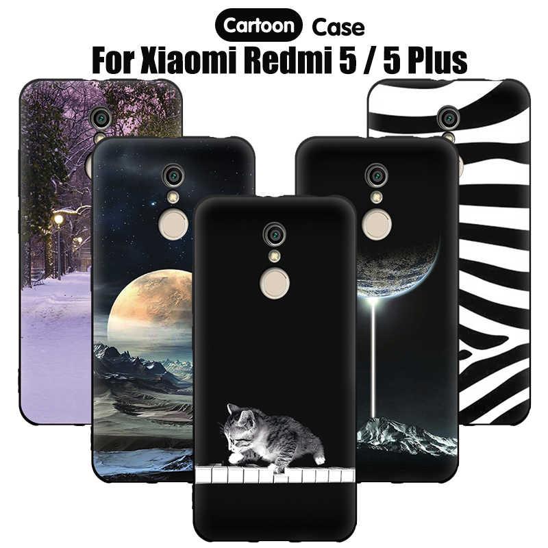 EiiMoo جراب هاتف ل Xioami Redmi5 5 زائد Fundas غطاء لينة الكرتون غطاء من السيليكون ل Xiaomi Redmi 5 زائد Etui الإسكان 32GB 64GB