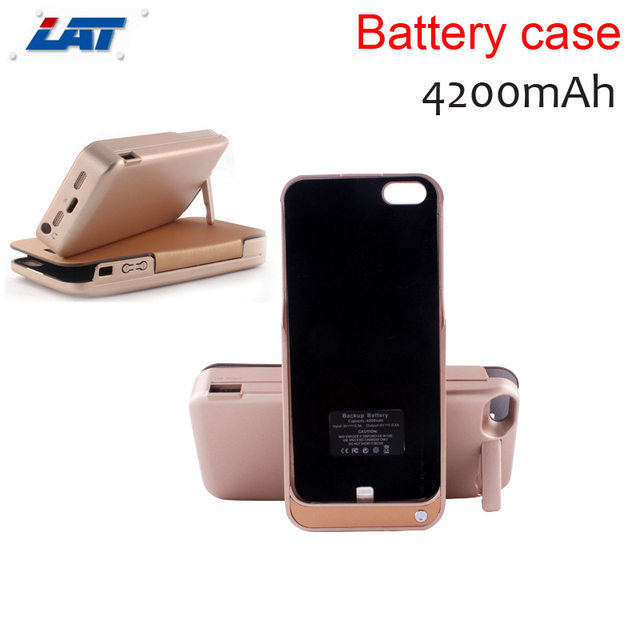 4200mah Rechargeable External Backup Battery Case Power Bank Case Cover for iPhone 5 5s Mobile Phone Charger Case (no flip case