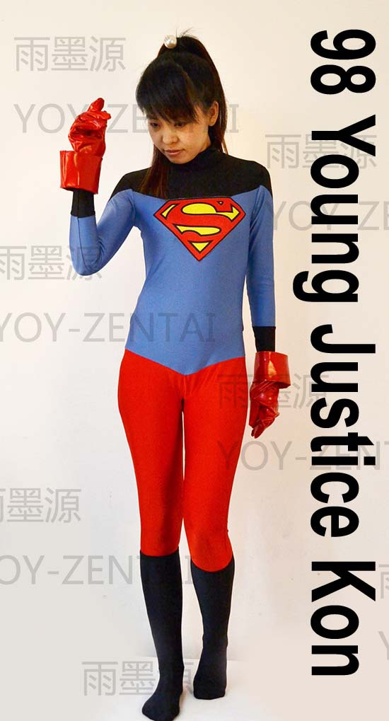 Movie Coser 5 High Quality Custome Made 98 Young Justice Kon Cosplay Costume Jumpsuit One piece