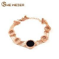 انها weier الأزياء المقاوم للصدأ سوار للنساء المفاجئة زر مجوهرات armbanden voor vrouwen بسيطة ذهبي أساور
