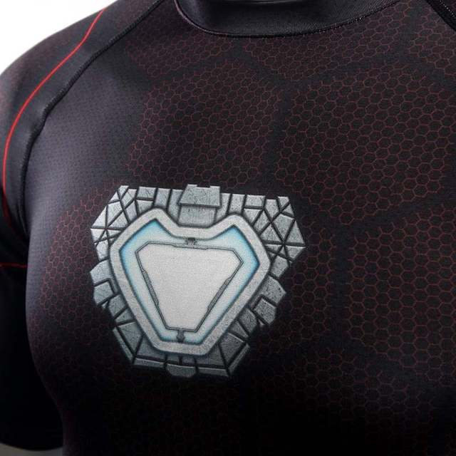 US $8 44 35% OFF|Avengers Infinity War Iron Man T Shirt Cosplay 3D Printed  T shirts Tony Stark Men Sport Tight Tee Superhero Costume Dropshipping-in