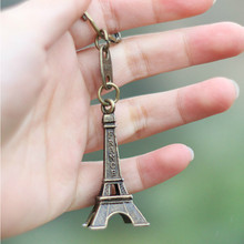 2018 Promotion Real Clef Eiffel Tower Keychain Keys Souvenirs Paris Tour Chain Ring Decoration Holder Key Chain Women Key Chains(China)