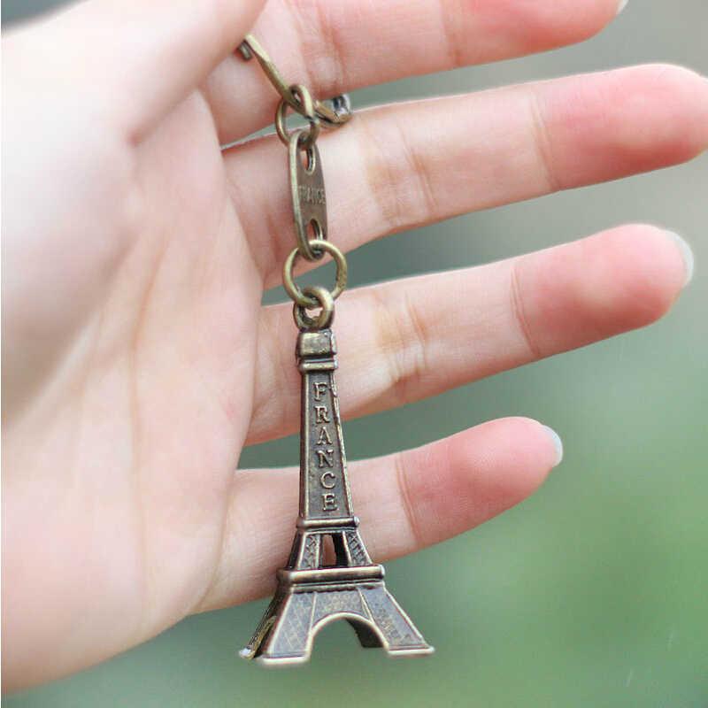 2018 קידום אמיתי מפתח מחזיק מפתחות מזכרות פריז סיור שרשרת טבעת קישוט מחזיק מפתח שרשרת נשים מפתח שרשרות