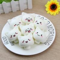 20185CM Kawaii Animals Mochi Gags Jokes Toy White Mushroom Rabbit Squishy Toys Phone Straps Pendant Soft
