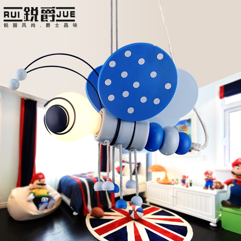 Cartoon character children's room light simple pendant lamp LED lamp boy bedroom lamp bedside Mediterranean lighting cartoon kids light led beside toys kids pendant light lamp kids room night light for children bedroom hanging head lamp