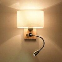 Nordic Стиль Бра Современный домашний Освещение Творческий настенные светильники Спальня лампа для чтения настенный качели руку огни
