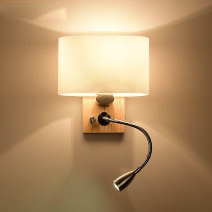 Stile nordico lampada da parete di illuminazione casa - Stencil parete camera da letto ...