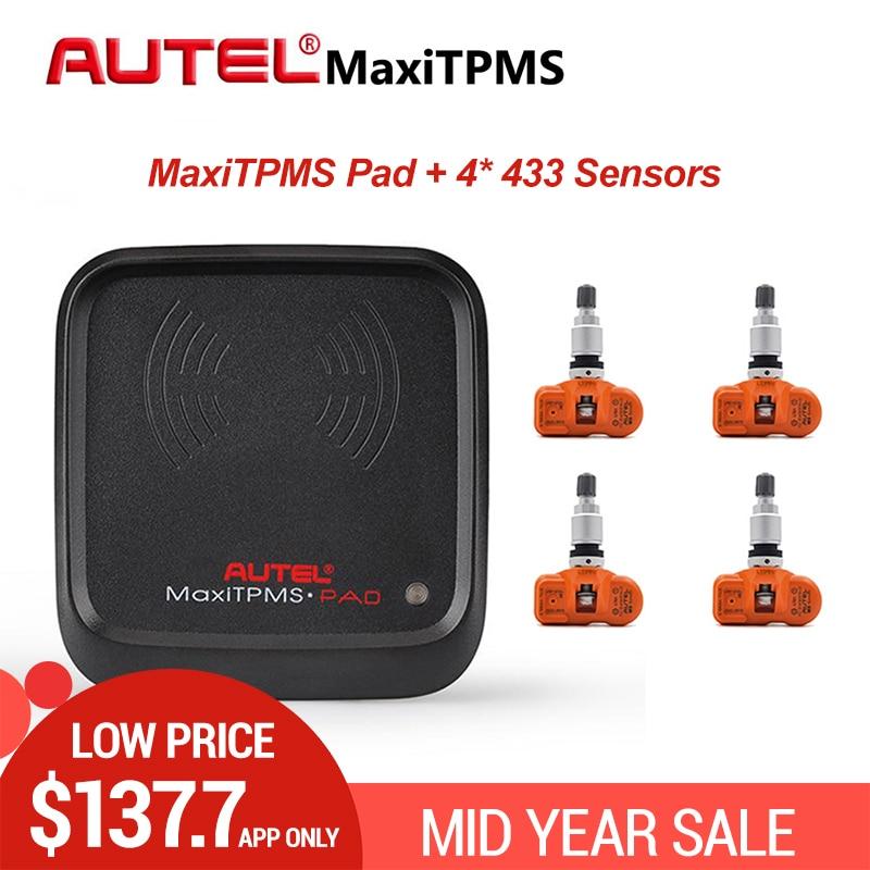 Ferramenta MaxiTPMS Autel TPMS Sensor Pad Sensor de Ativação de Programação Clone Programador 433 MHZ MX MX-Sensor de Sensores De Pressão Dos Pneus