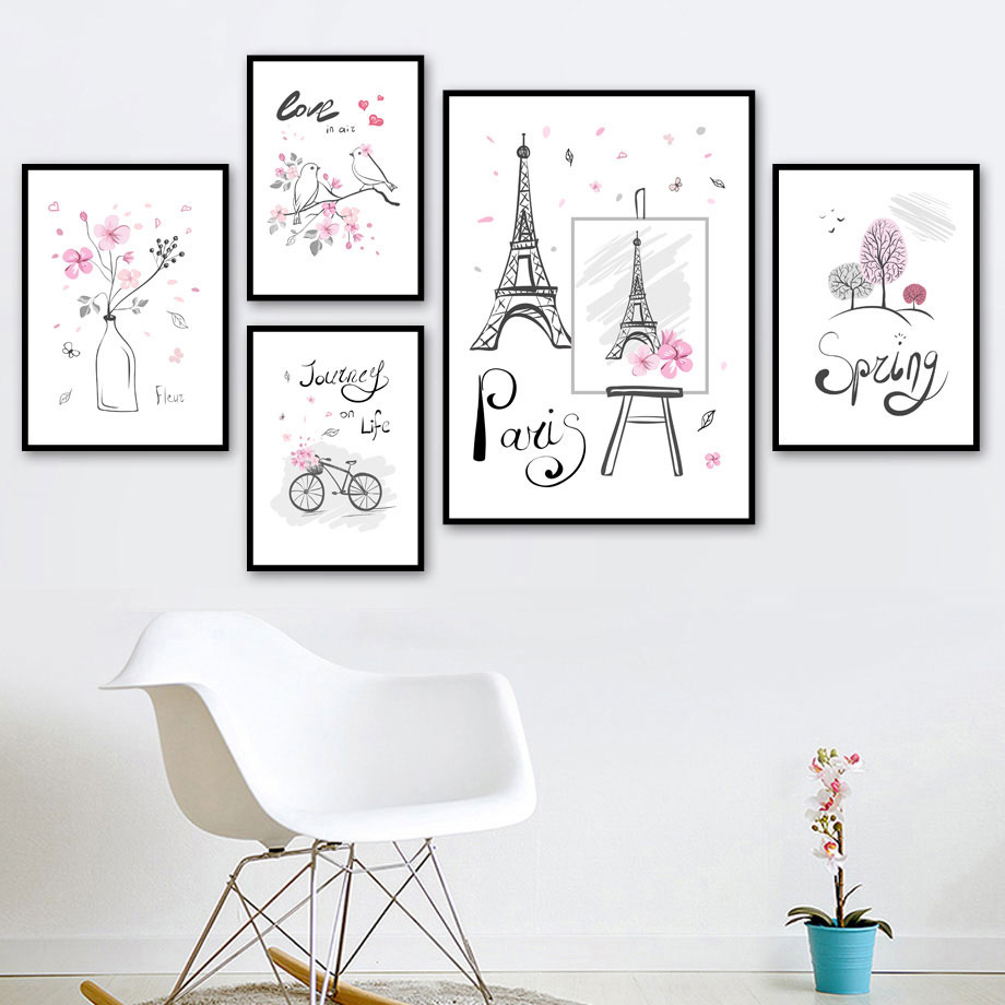 wall art print nordic home decor modular simple pictures quotes