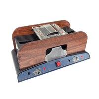 Wooden Poker Card Shuffler Automatic Robot Machine Shuffling 2 Decks Plastic Playing Cards In Seconds