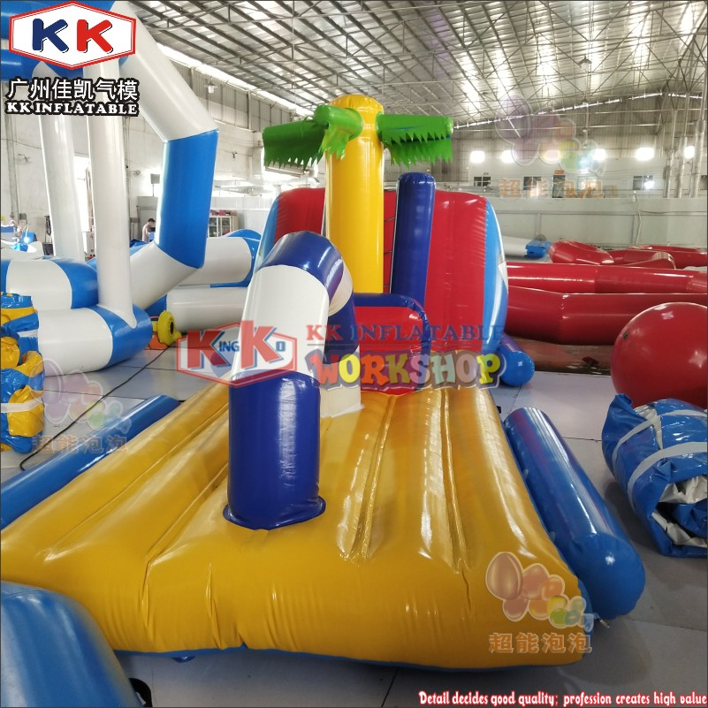 7m Inflatables Float Dock Inflatable Water Obstacle Water Park Equipment For Sale