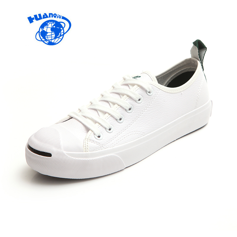 HUANQIU Fall 2017 New Open Smile White Shoes All-match Korean Female Student Leather Shoes Casual Black Shoes Yellow Size 35-40 inov 8 сумка all terrain kitbag black