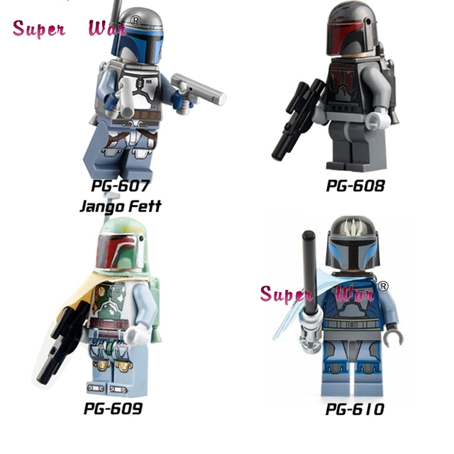 Single Star Wars Mandalorian Boba Fet Jango Fett Darksaber Stormtrooper Clone Soldiers trooper building blocks model bricks toyS