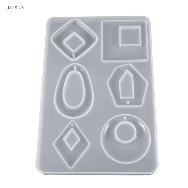 Epoxy Resin Molds For Jewelry Silicone Mold Acrylic Earring Necklace Pendant Transparent Casting Mold Jewelry Making Accessories