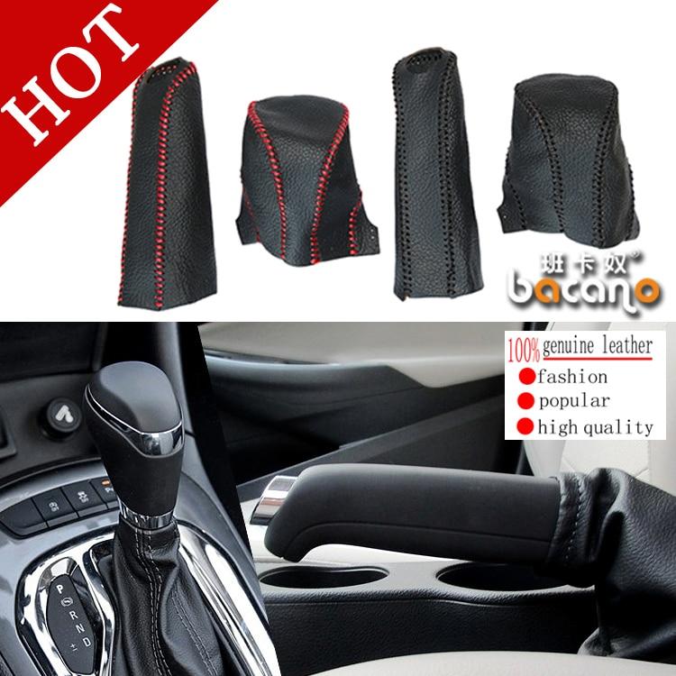 Doprava zdarma 2PCS / SET Black Leather Gear Shift obojky Auto Sady - Příslušenství interiéru vozu