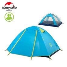Naturehike 2-3-4 kişi açık çift katmanlı çadır yağmur geçirmez rüzgar geçirmez kamp çadırı nh15z003-p
