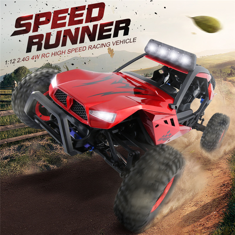 JJRC Q46 High Speed Racing 1:12 4WD High Speed Car 2.4G Remote Control High Speed Car Crashworthy Charge Climbing Toy Car large rc car 1 10 high speed racing car for nissan gtr championship 2 4g 4wd radio control sport drift racing electronic toy