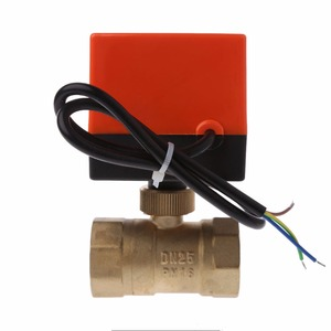 Image 3 - DN15/DN20/DN25 Electric Motorized Brass Ball Valve DN20 AC 220V 2 Way 3 Wire with Actuator