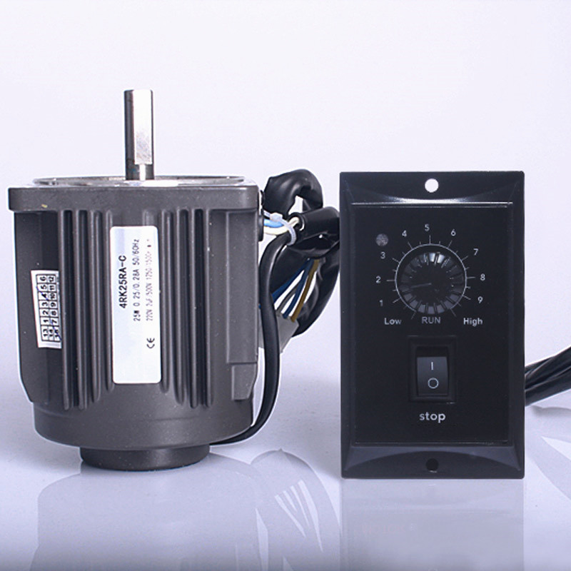 25W 220V Optical axis deceleration AC motor 25W geared AC motor high speed 1250rpm Motor governor