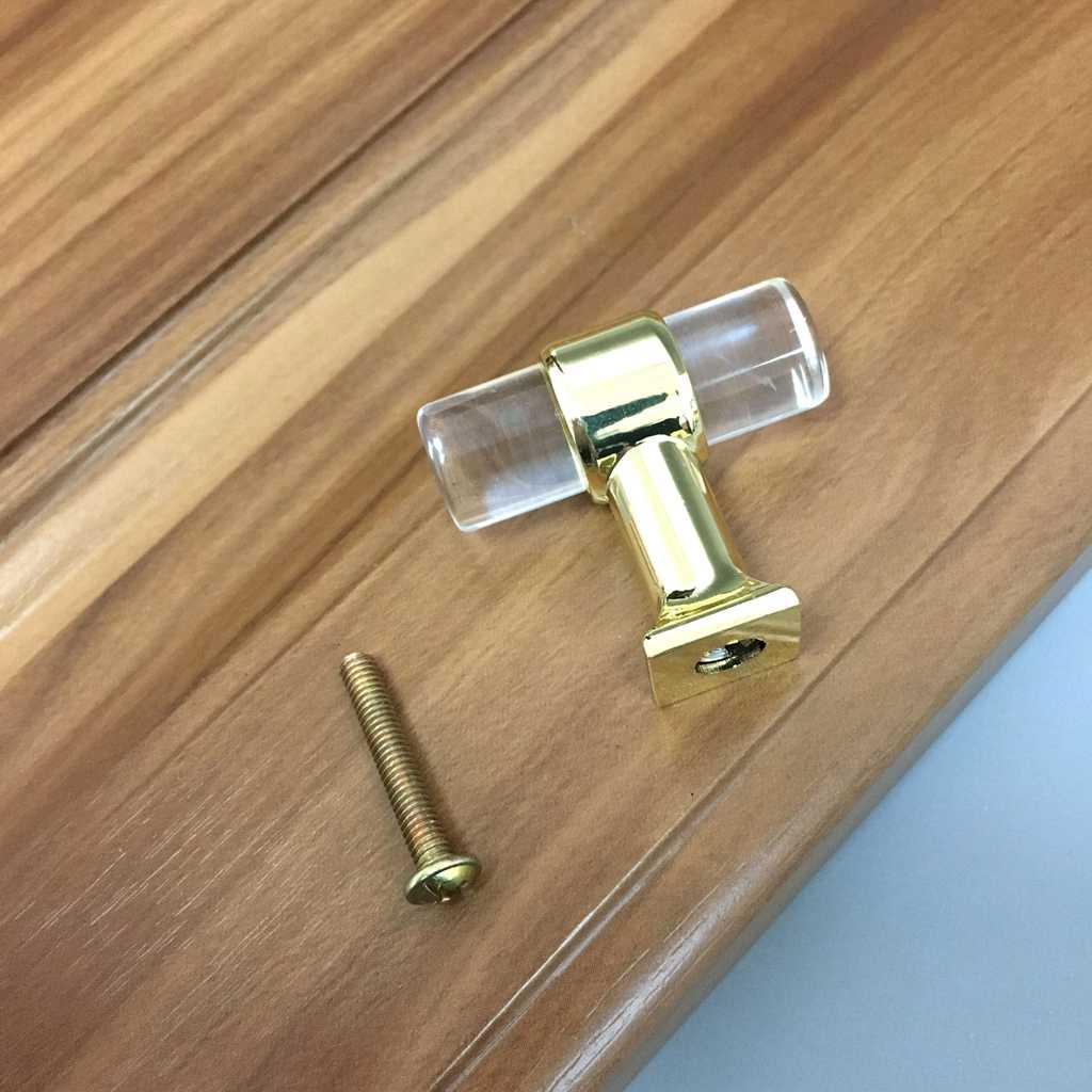 Moderne Acryl Tür Pull Knob Schublade Schrank Schrank Küche Griff Schublade Knöpfe Hardware Gold Schrank Griffe Möbel
