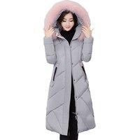 2017 Hot Sale Winter Jacket Women Cotton Padded Winter Coat Women Parka Thick Fur Hoodie Windbreaker Jaqueta Abrigos Mujer XH974