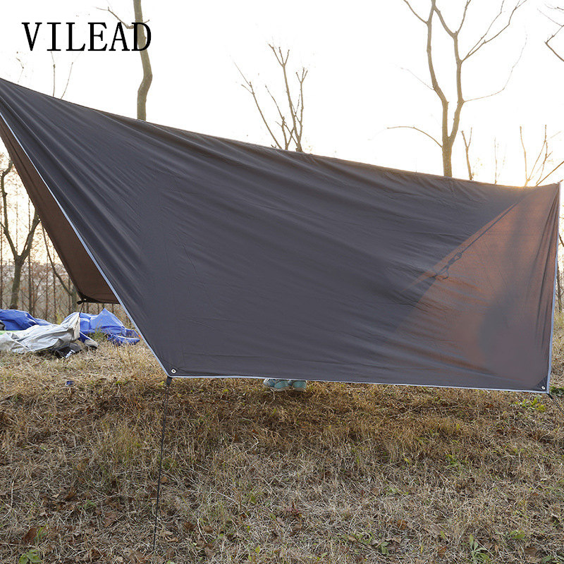 VILEAD Outdoor Multifunction Awning Durable Sun Shelter Sun Shading Cloth Velaria Canopy Waterproof Camping Mat for Picnic 4 1 5m sun shelter sunshade camouflage tent outdoor waterproof awning sun shelter sunshade camping mat for picnic t15 0 5