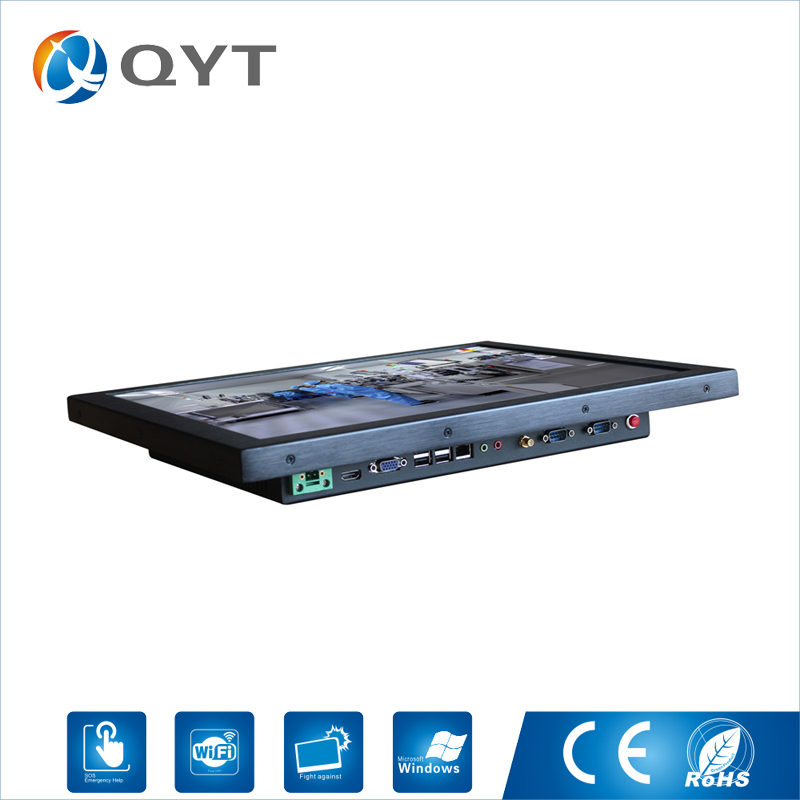 """Resistance Touch 19"""" 4GB DDR3 Touch Industrial Fanless lcd aio all in one pc"""