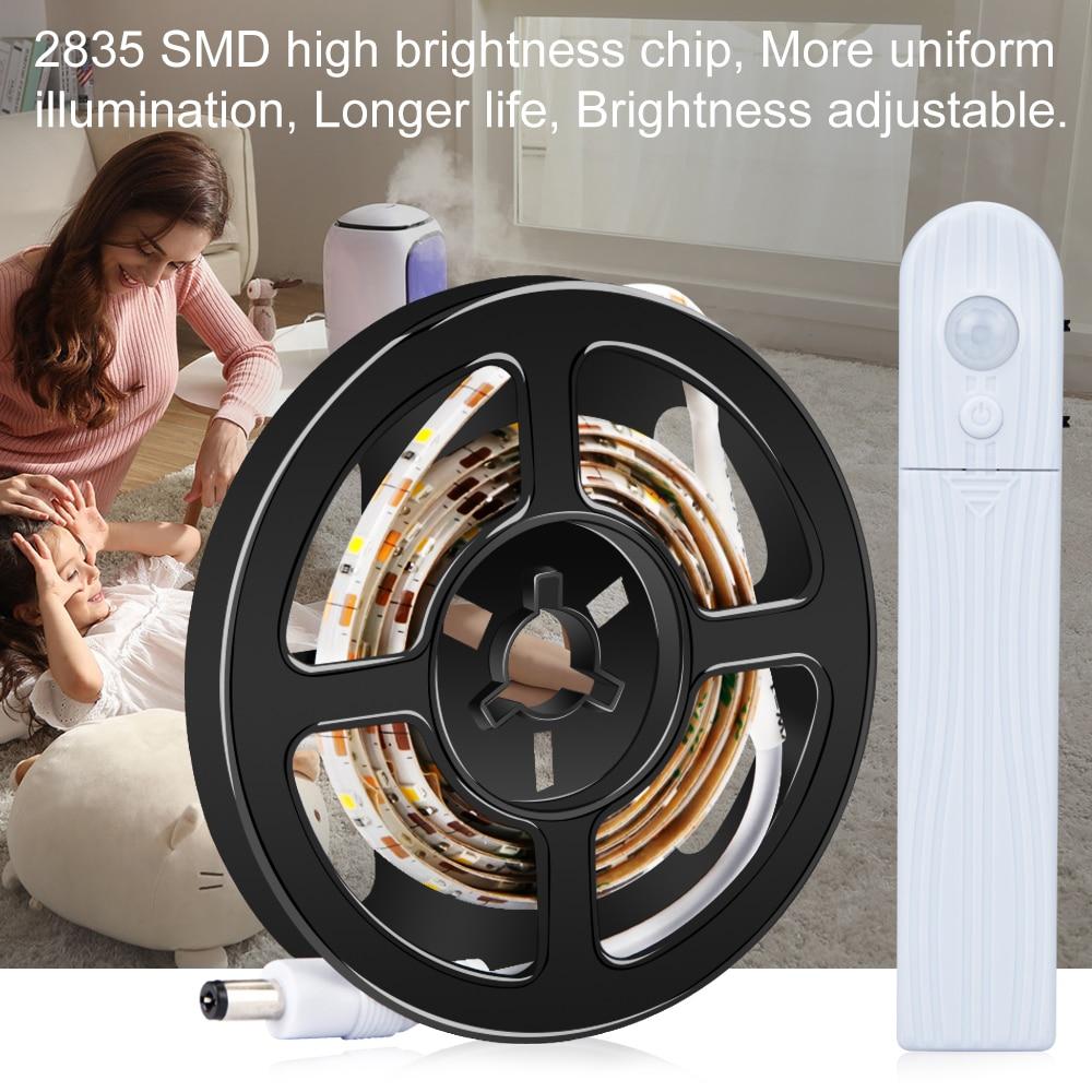 Battery Motion Sensor Led Strip Light Fita Tira Waterproof LED Lamp Tape 5V Diode Ribbon TV Backlight Cabinet Lighting