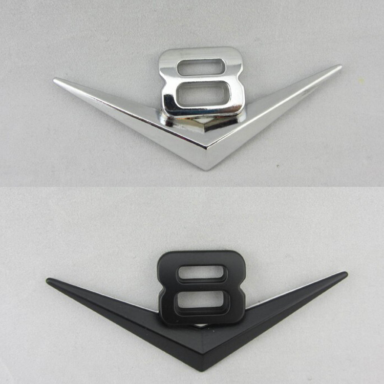 Chrome 3D Self-Adhesive R Letter Car Badge Emblem Sticker For Home /& Auto