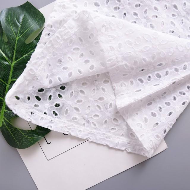 Girls' Sleeveless White Cotton Blouse