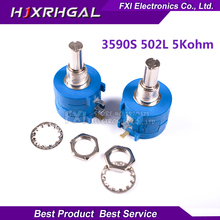 1PCS 3590S-2-502L 3590S 5K ohm 3590S-2-502 3590S-502 502 Precision Multiturn Potentiometer 10 Ring Adjustable Resistor