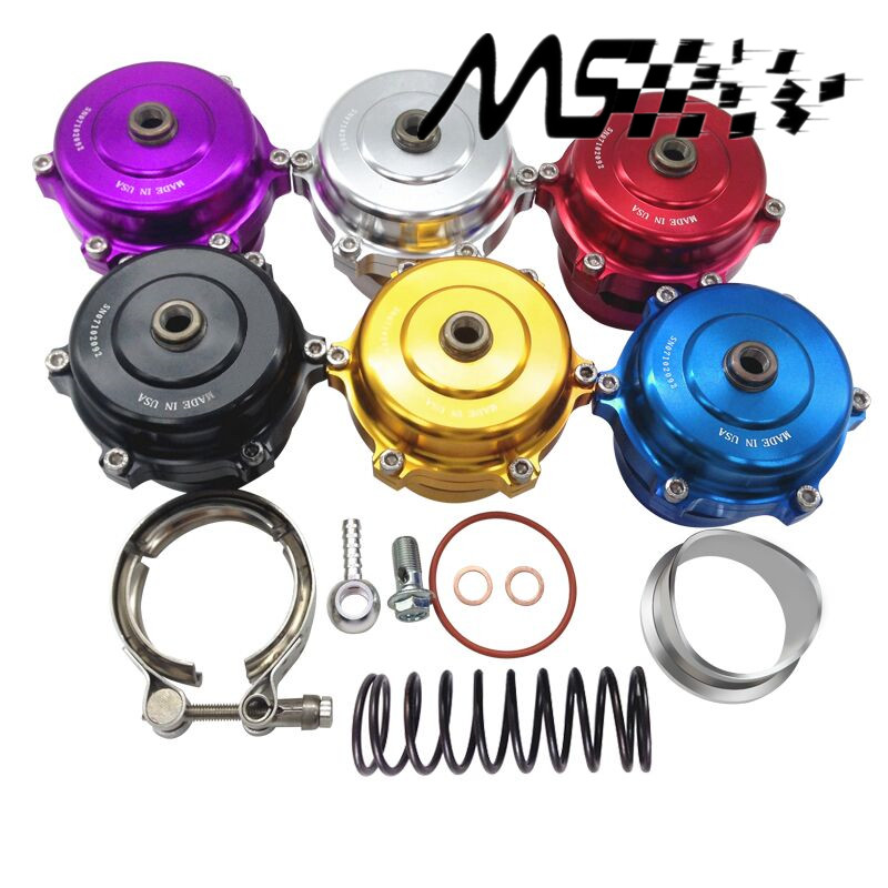 Gaya Tial 50mm Blow Off Valve Universal Adjustable turbo Blow Off dengan warna Flange Perak, Merah, Biru, ungu, Hitam, Emas