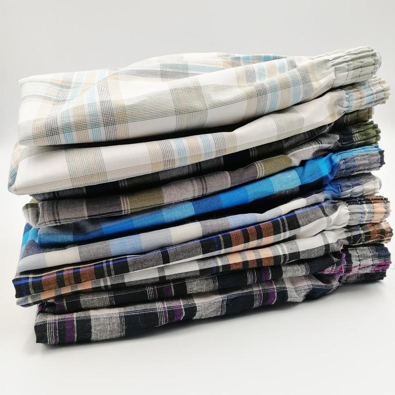 4Pcs/lot Boxer Men Thin Summer Underwear Cotton Man Short Breathable Plaid Flexible Shorts Boxer Male Underpants 5XL 6XL