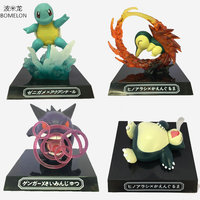 GK Squirtle Cyndaquil Snorlax Gengar Aciton Figures Game Anime Puppets WAZA MUSEUM Dolls Kids Birthday Gifts