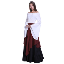 Hot Sale Adult Female Cosplay Costume Women's Sexy Halloween Fancy Dress Clothing Flare Sleeve Off Shoulder dresses