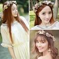 Женщины Свадебные Розы Цветы Гирлянды Hairbands Для Cap Ручной Диадемы Волосы Украшения Мода Невесты Голова Аксессуары Hairwear