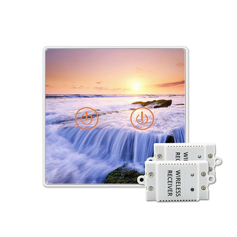 Saful Wireless Switch 150M Remote Control 50 60Hz Tempered Glass Panels Life More Than 10 000
