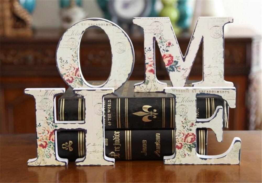 vintage wood letters