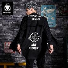 GENANX Brand Fashion Men'S Shirts With Long Sleeves Shirt Printing Trend Of Korea Shirt Size M-Xxl