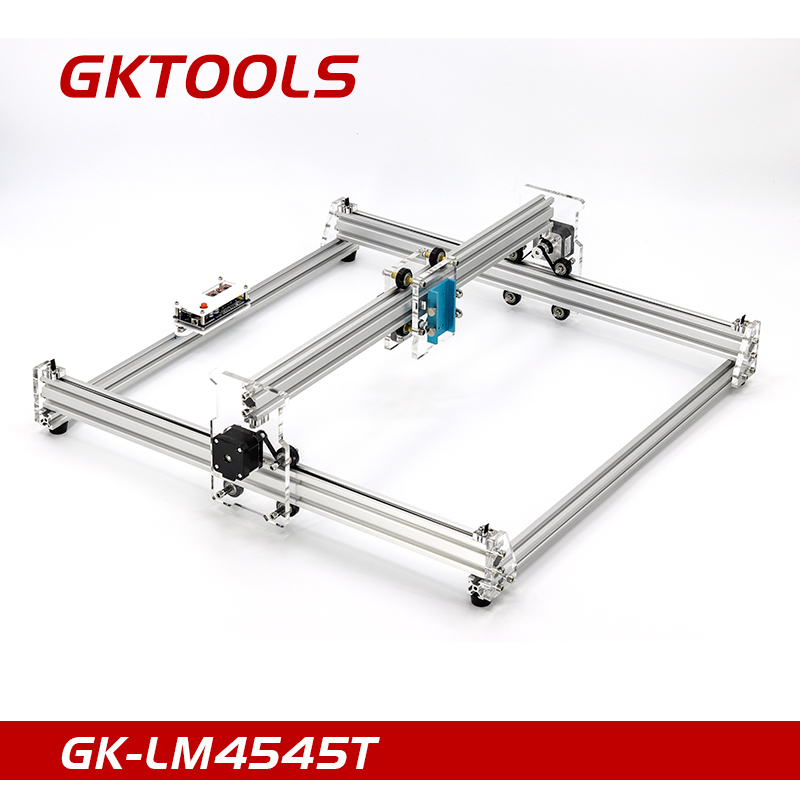 GKTOOLS DIY Wood Mini CNC Laser Engraver Cutter Engraving Machine Frame Without Laser,45*45cm Acrylic PWM, GRBL EleksMaker disassembled pack mini cnc 1610 2500mw laser cnc machine pcb wood carving machine diy mini cnc router