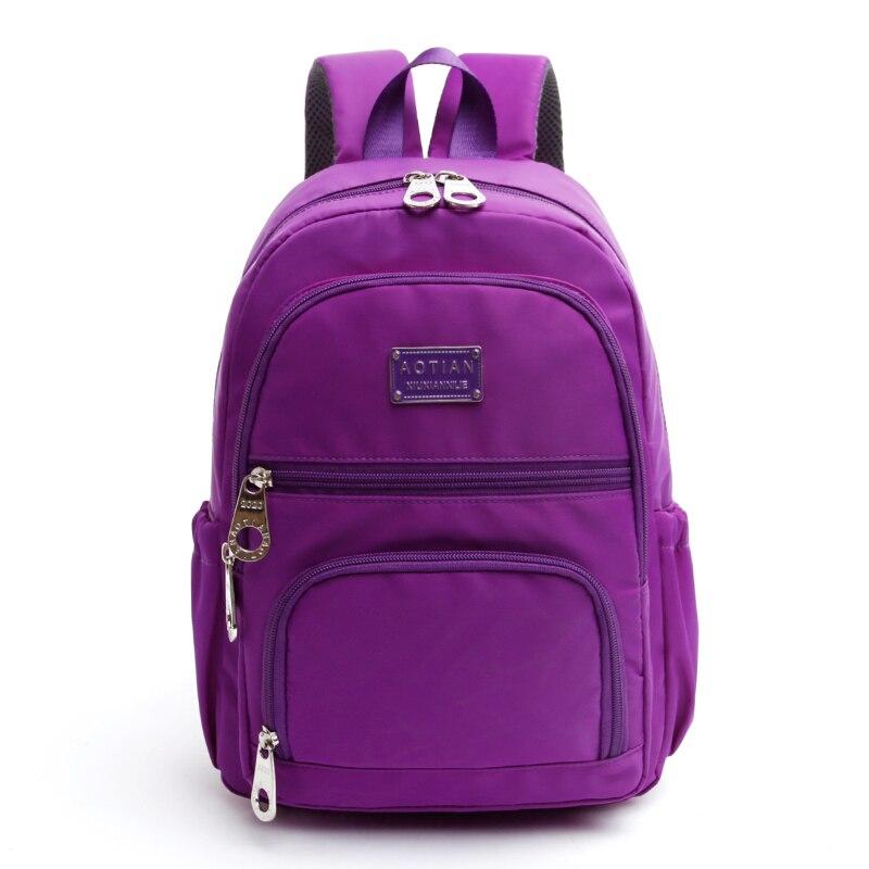 Waterproof Nylon Foldable Backpack Color Bag Rucksack Casual Backpack Rucksack Travel Capacity Composite Bag Mochila Feminina