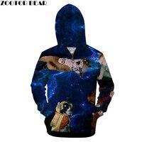 Galaxy Hoodies Zipper Hoodie Men Women Zip Sweatshirts Brand 3D Hot Sale Tracksuits Novelty Streetwear Male Casual Jacket Coats