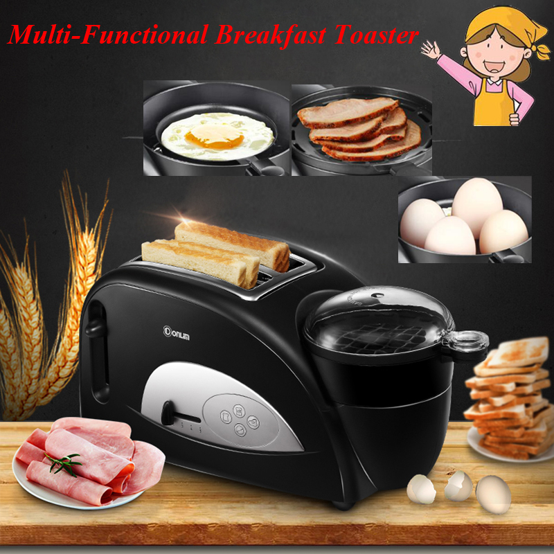 ФОТО 1pc Household Multi-functional Breakfast Toaster Toast Oven Machine with a Hard Boiled Egg XB-8002
