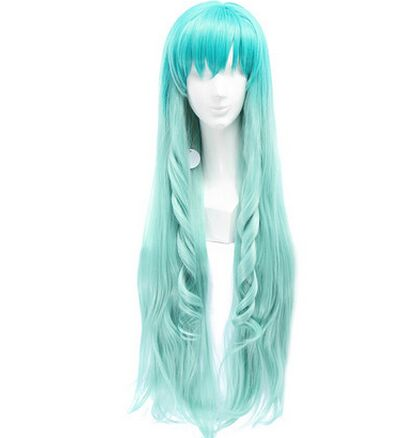 Green Anime Cosplay Hair Long Green Anime Curly Hair Anime Party