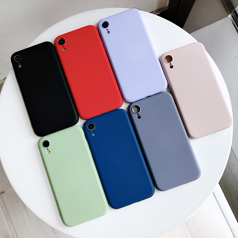 Original Soft Liquid Silicone Case For Xiaomi 9 8 SE 6X MI MIX 2S 3 Back Cover For Redmi Note 7 K2 K20 Pro TPU Phone Cases Coque in Half wrapped Cases from Cellphones Telecommunications