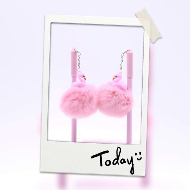 desenhos animados pingente cabelo flamingos kawaii 04