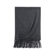 HZLLHZ 2018 new colors women men lambwool scarf 100% lambwool tassel thick warm wraps unisex shawls