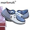 Nuevos hombres del Estilo Británico Pisos de Rayas de Moda Transpirable Ocasionales Con Cordones de Zapato Plano Zapatos Casuales Zapatos de Los Hombres Libres LS001 envío
